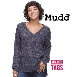 Mudd juniors cut-out v-neck sweater